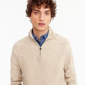 J.Crew Rugged cotton half-zip sweater