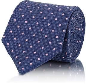 Isaia Men's Dot-Pattern Silk-Cashmere Necktie