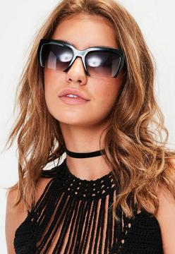 Missguided Black Cut Out Lenses Sunglasses