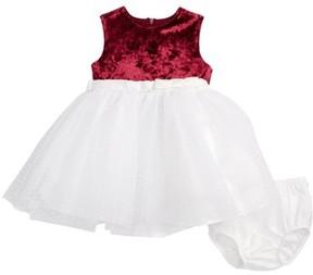 Us Angels Infant Girl's Velvet & Tulle Dress