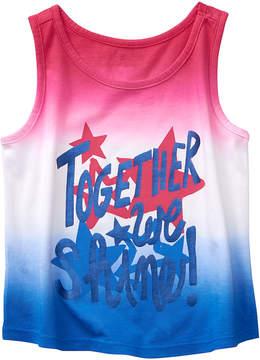 Gymboree True Red & Blue Ombre 'Together We Shine' Tank - Infant, Toddler & Girls