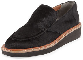Derek Lam 10 Crosby Dana Calf Hair Slip-On Loafer, Black
