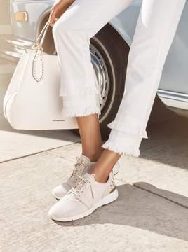 MICHAEL Michael Kors Astor Studded Mesh and Leather Sneaker