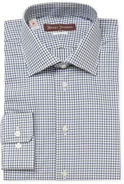 Hickey Freeman Men's Printed Cotton Classic Fit Dress Shirt