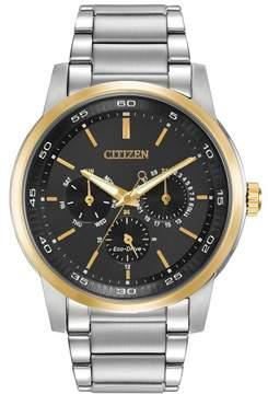 Citizen Men's Bracelet BU2014-56E Silver/Black Analog Eco-Drive Men's Watch