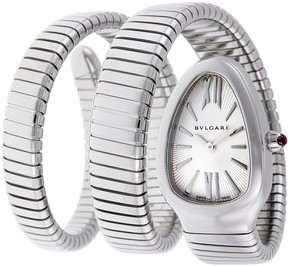 Bvlgari Serpenti Tubogas Silver Opaline Dial Ladies Watch