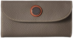 Dooney & Bourke Cambridge Continental Clutch Clutch Handbags - TAUPE W/ TAN TRIM - STYLE