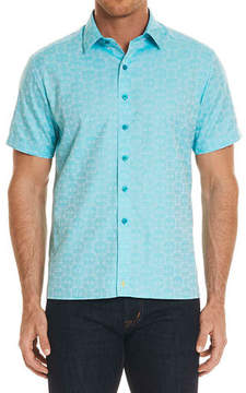 Robert Graham Cullen Squared Short-Sleeve Sport Shirt