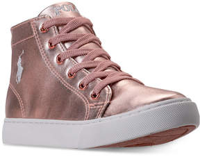 Polo Ralph Lauren Little Girls' Slater Mid Casual Sneakers from Finish Line