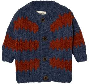 Bobo Choses Blue Stripes Knitted Cardigan