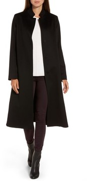 Fleurette Women's Inverted Lapel Loro Piana Wool Coat