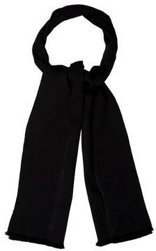 Balenciaga Wool Satin-Trimmed Scarf