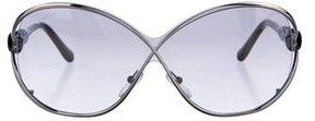 Emilio Pucci Oversize Woven Sunglasses