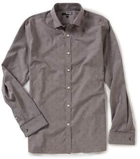 Murano Slim-Fit Check Clipped Dobby Shirt