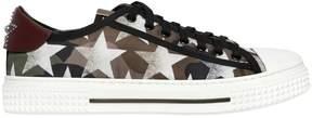 Valentino Camustars Print Nylon Sneakers