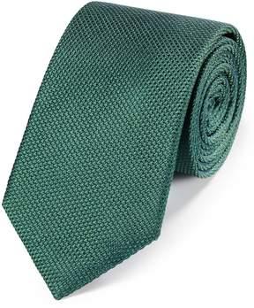 Charles Tyrwhitt Mid Green Silk Plain Classic Tie