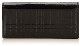 Burberry Pre-owned: Patent Leather Long Wallet. - BLACK - STYLE