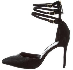 Reiss Multistrap Ponyhair Pumps