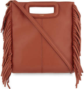 Maje M fringe leather shoulder bag