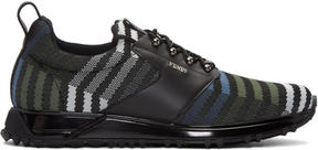 Fendi Black Zig Zag Sneakers