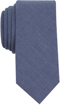 Bar III Men's Chambray Solid Skinny Tie, Created for Macy's