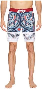 VISSLA Vacancy Reef Four-Way Stretch Boardshorts 18.5 Men's Swimwear