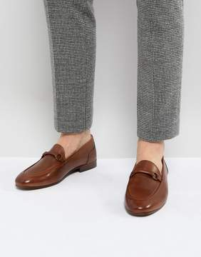 H By Hudson Renzo Leather Loafers in Tan