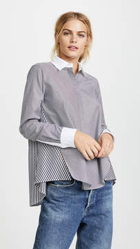 ADAM by Adam Lippes Long Sleeve Trapeze Top