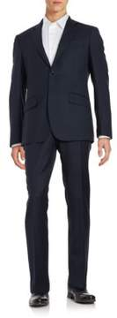 Hardy Amies Two-Piece Textured Suit Set