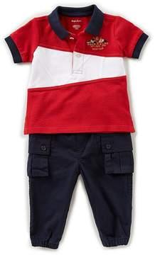 Ralph Lauren Baby Boys 3-24 Months Short-Sleeve Pieced Polo Shirt & Solid Pant Set
