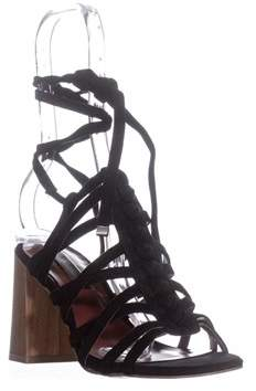 Kensie Sadira Heeled Gladiator Sandals, Black.