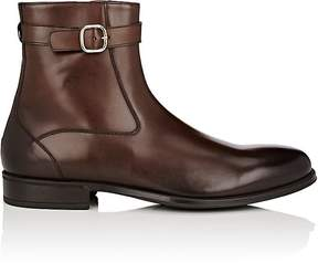 Doucal's Men's Burnished Leather Buckled Tapered-Toe Boots