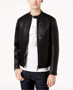 Armani Exchange Men's Faux-Leather Moto Jacket