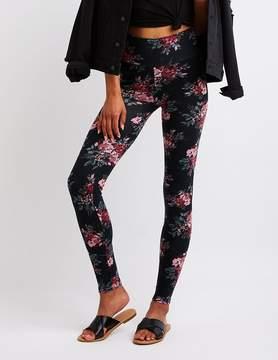 Charlotte Russe Floral High Waist Leggings