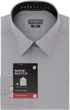 Van Heusen Made To Match Long Sleeve Twill Dress Shirt - Slim