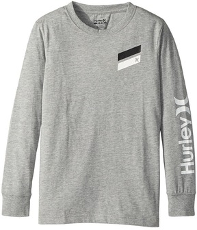Hurley Icon Slash Long Sleeve Tee Boy's T Shirt