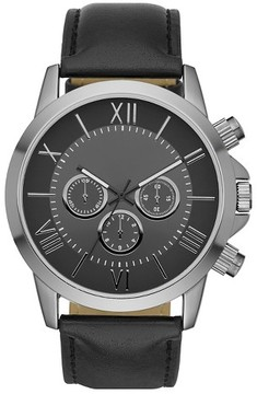 Mossimo Men's Roman Numeral Dial Strap Watch - Black