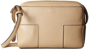 Tory Burch Block-T Pebbled Double-Zip Crossbody Cross Body Handbags - SAVANNAH - STYLE