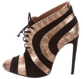 Alaia Metallic Striped Booties w/ Tags