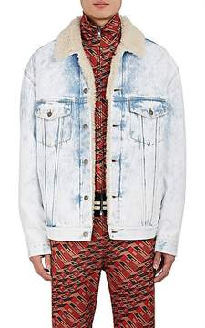 Gucci Men's Thanatos Tiger-Embroidered Denim Jacket