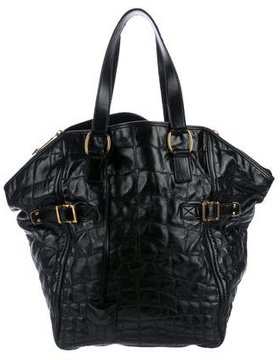 Saint Laurent Downtown Soft Patent Tote - BLACK - STYLE