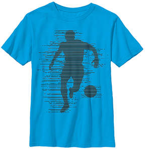 Fifth Sun Turquoise Soccer Glitch Crewneck Tee - Youth