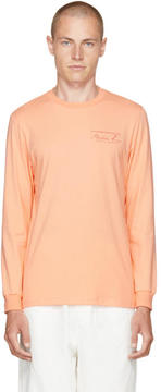 Martine Rose Orange Long Sleeve Classic Logo T-Shirt