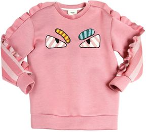 Fendi Monster Jersey Neoprene Sweatshirt