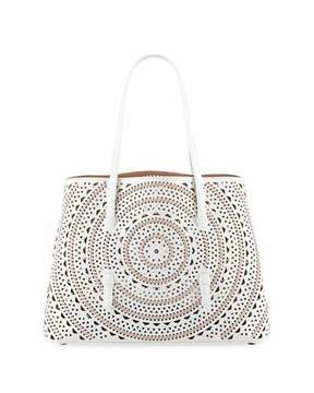 Alaia Laser-Cut Leather Tote Bag