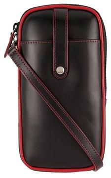 Lodis Mini Audrey Blossom Leather Crossbody Bag - Black