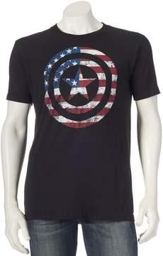 Marvel Men's Captain America Flag Shield Tee