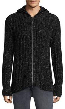 John Varvatos Knitted Hooded Jacket