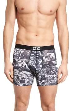 Saxx Vibe Newsprint Boxer Briefs