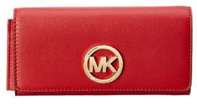 MICHAEL Michael Kors Fulton Leather Carryall Wallet. - RED - STYLE